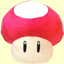 Big size plush Super Mario Super mushroom and 1-UP mushrooms