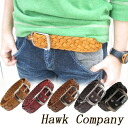 ■ □ be □ ■ Hawk Company / Hawk company leather mesh leather belt 5 COLORS NO.1255 new gift gifts HKC ladies leather leather leather pig leather belt fs3gm