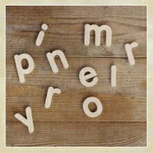 木製アルファベット文字