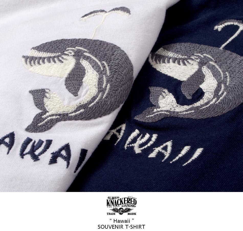 スカジャンの様な刺繍が魅力のTシャツ
