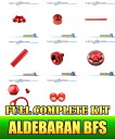 Dress-up custom parts full complete kit red fs3gm for Aldebaran BFS XG