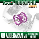 09 Aldebaran Mg & 10 Scorpion XT1000 for lightweight shallow Groove spool Avail Microcast Spool ALD0918TR (groove depth of 1.8 mm) purple *