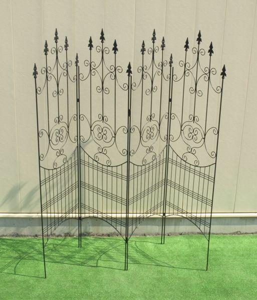楽天ランキング1位のフェンス。当店オリジナル商品。アイアンフェンスデラックス。送料無料