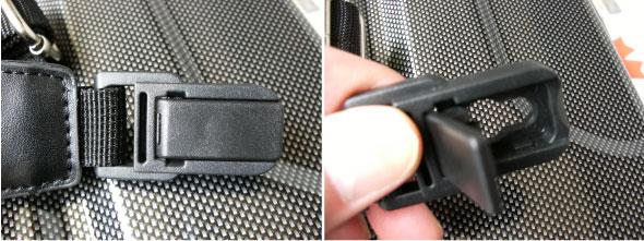 ブロンコ(G-BRONCO)122006 アタッシュケース ショルダーベルトを取り付ける際は留具を上げて