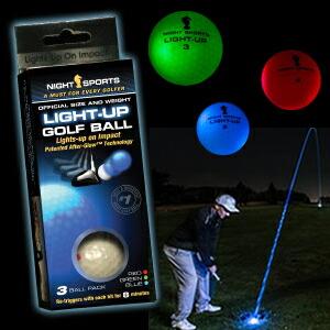 光るゴルフボール ライトアップゴルフボール 3色セット