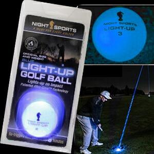 光るゴルフボール ライトアップゴルフボール ブルー