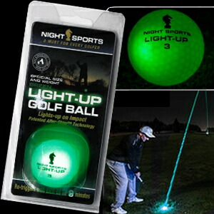 光るゴルフボール ライトアップゴルフボール グリーン