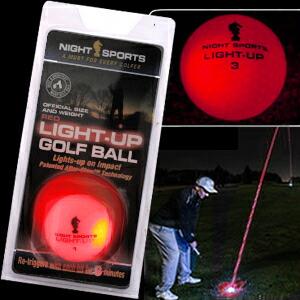 光るゴルフボール ライトアップゴルフボール レッド