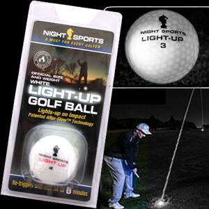 光るゴルフボール ライトアップゴルフボール ホワイト