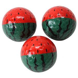 スイカ 全面プリント ゴルフボール(3個入り)