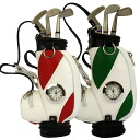 Golf bag type clock with pen & pen holder fs3gm