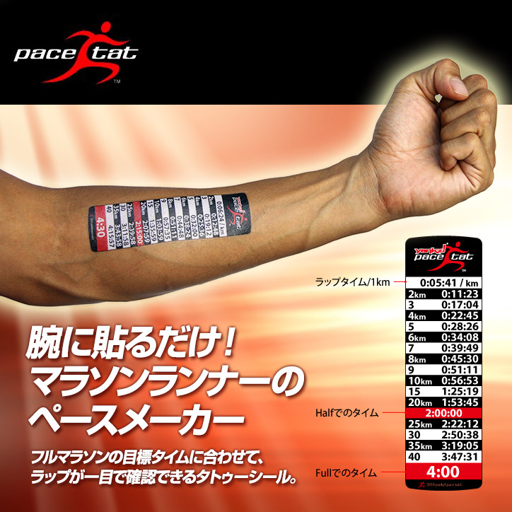 腕に貼る新感覚のペースメーカー ペースタット