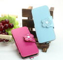 All leather smartphone case flowers for model