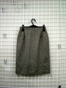 French brand wool & polyS till skirt gold Brown