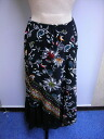 Carole Grey( Carole Gray) France brand viscose material floral design skirt black