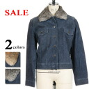 All rabbit fur utility clothes pig leatherette jacket suede processing denim print two colors which there is reason in