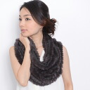 ☆ ☆ ☆ all 8 color rabbit fur knit ed. snood introductory to.