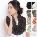 8 Colors rabbit fur knit ed. snood for beginners to!