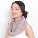 Rabbit fur snood reversible Aran knitting knitting Tippet scarf