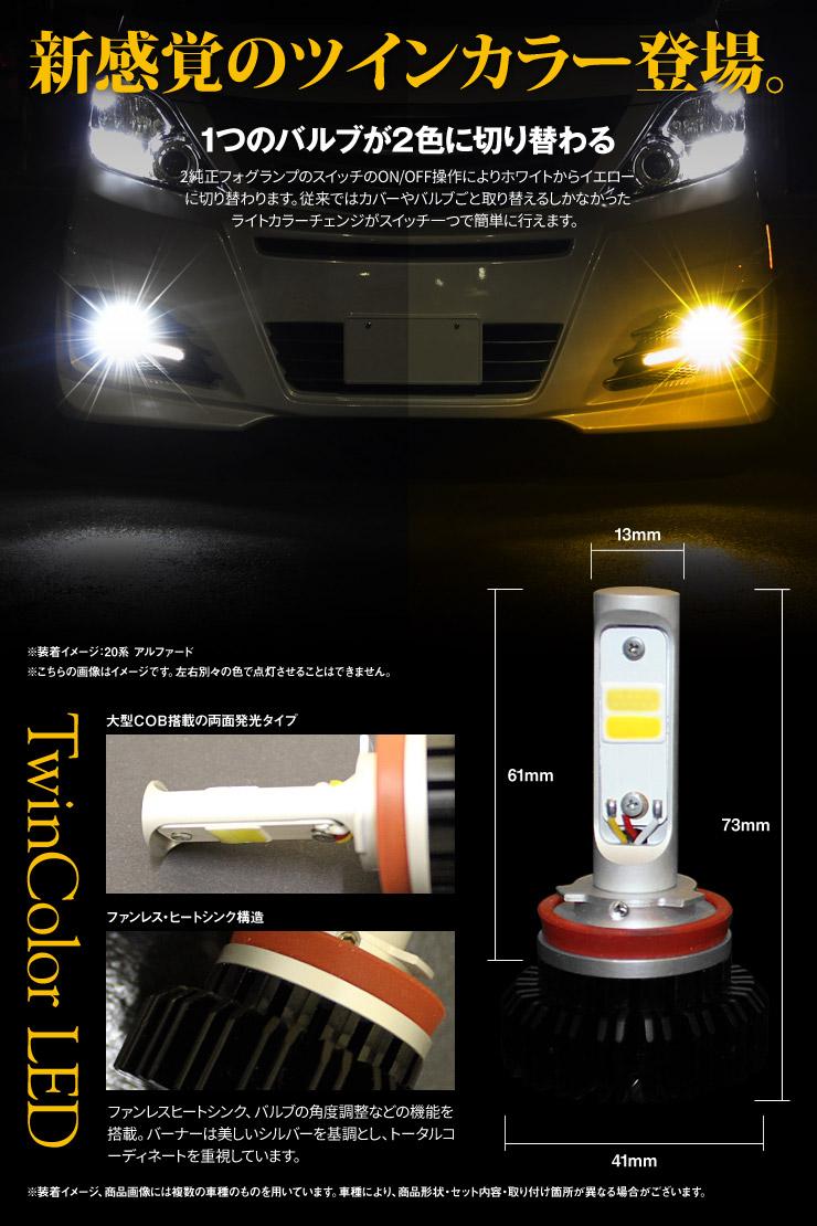 ツインカラー LEDフォグバルブについて
