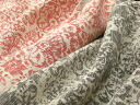 C Italy-cotton polyester weave batik-style floral print (red, gray)