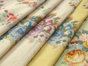 Japan-made cotton linen Cambric flower print 5 M