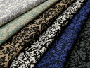 Lyocell cotton herringbone stretch damask pattern made in Japan 6 color J