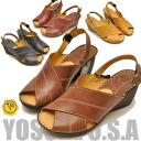 ◆ oily leather effortlessly Chin Sandals series new! YOSUKE U.S.A Yosuke leather Sandals leather Bax strap Sandals shoes comfort Sandals wedge sole Book Award →