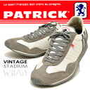 PATRICK Patrick sneakers men's STADIUM Stadium WH/GY white / grey [after the order after 3-5 days delivery within» mens sneaker