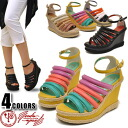 Thickness bottom wedge platform jute Sandals YOSUKE POP &CULTURE Yosuke shoe store ladies sandal wedgesole wedge sole