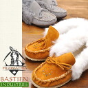 ビーズワークモカシン ladies leather BASTIEN Bastin by HIWATA ヒアワタ Canada luxury moccasins brand new item plenty of fluffy fur warm and surrounds
