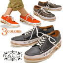 «30% off» RAUDI Rudi mens casual shoes deck shoes leather leather lace-up shoes casual shoes moccasin shoes white bottom braces shoes