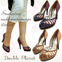 Price down! Gnu D opening toe pumps high-heeled shoes beauty leg pumps storm Double Planet double planet lady's pumps