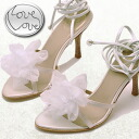 Flower ornament a sheer lace sandal Love Love love love