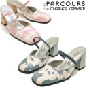 PARCOURS パークール cow pattern ROE wind 2-WAY Mir ladies mule sandal