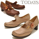 Leather oil leather moccasin Velcro strap pumps TODAY's today ladies leather loafer