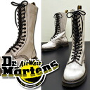 14 hall boots (lady's shoes) Dr.Martens doctor Martin Lady's of the damage processing leather