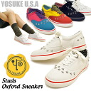 Price reduction! Oxford type with studded sneakers-star-studded YOSUKE U.S.A Yosuke ladies sneaker punk