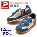Kids children's sneakers Patrick PATRICK パトリックキッズ MARATHON Marathon Velcro WHT white kids sneaker «order after 3-5 days after delivery within»