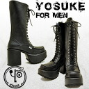 Men's thickness bottom boots lace-up boots headup boots heel boots knee high boots lace-up boots side dip cosplay Lolita YOSUKE U.S.A Yosuke * after your order after 2-4 days delivery within.