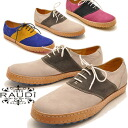 ★Price down! Real leather men saddle shoes race up suede race shoes RAUDI bamboo pipe-stem D MEN'S LEATHER