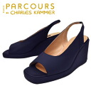艶めき satin wedge Sandals PARCOURS パークール ladies sandal