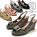 Enamel Ribbon quilting-based wedge Bax strap Sandals POUDLE PUPPET poodle upper ladies sandal