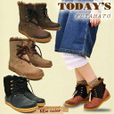 Natural taste with fur short boots TODAY's today ladies boots leather