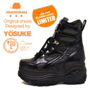 Women's thick bottom platform form sneaker mid YOSUKE Yosuke x mommou thickness bottom boots sneaker ハイソール thickness bottom sneakers ladies sneaker punk スケッチャーズファン also recommend! * (The book) and what is the September mid stock scheduled book sales