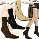 Recommend paradais noir パラディノ are magic details bring out the femininity! Chain short boots ladies boots leather