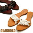 Made in Italy leather Sandals pettanko Sandals ラストペア sale 23.5 cm Sandals GUARDOLO ガルドロ ladies sandal leather
