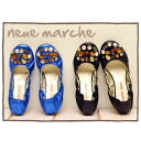 ★ 50% off sale ★ neue marche ノイエマルシェ too large bijoux sparkling accent ☆ fun Chin ♪ flat ballet shoes