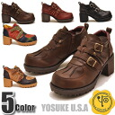 Reprint! Tank sole boots Velcro ankle boots short boots ladies boots