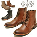Restocked ★ leather lace-up boots chukka boots zip up lace-up boots RAUDI Rudi MEN's BOOTS LEATHER * your order after 2-4 days after the delivery within.